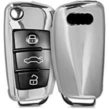 kwmobile Funda para Llave Plegable de 3 Botones para Coche Audi - Carcasa [Suave]