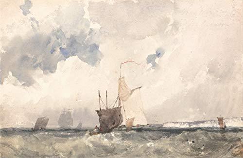 Berkin Arts Richard Parkes Bonington Giclee Kunstdruckpapier Kunstdruck Kunstwerke Gemälde Reproduktion Poster Drucken(Schiffe in Einem abgehackten Meer)
