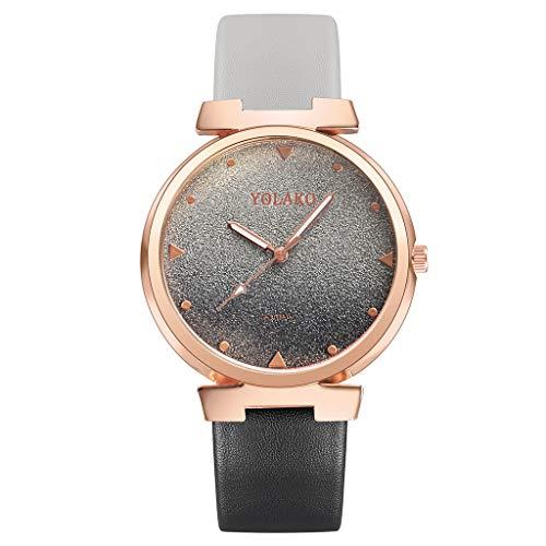 Frauen Farbverlauf Uhr LSAltd Frauen Casual Quarz Lederband Arm Uhrenarmband Analog Armbanduhr Bandwear