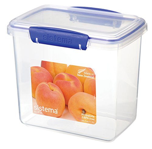 sistema-klip-it-food-storage-container-19-l-clear-with-blue-clips
