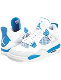 sports shoes 59266 4fe24 Nike Air Jordan 4 Retro Herren Sneakers in weiß Military blau neutral grau (
