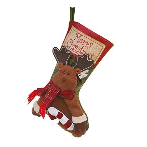 carol -1 Weihnachtsstrumpf Weihnachtsdeko Klassische Weihnachten Strumpf Geschenk, Weihnachtssocken Beutel Weihnachtssocke Christmas Stockings zum Befüllen und Aufhängen - Nikolaus-Strumpf - (Günstige Christmas Carol Kostüm)