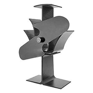 Lincsfire 2/3 / 4 Blade Heat Powered Stove Fan Warm Air Circulating for Wood/Log Burner/Fireplace - Eco Friendly   Black Steel
