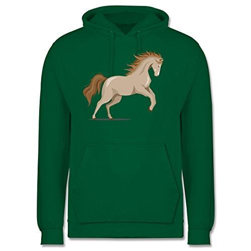 Pferde - steigendes Pferd - Herren Hoodie Grün