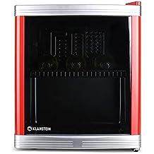 Klarstein Coollocker minifrigo con porta in doppio vetro temperato (classe A, 46 litri, risparmio energetico, compatto) - rosso