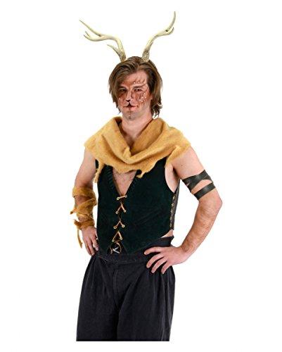 Hirschgeweih Wildtier-Hörner Kopfschmuck für LARP, Halloween & Karneval (Hirschgeweih Kostüm)