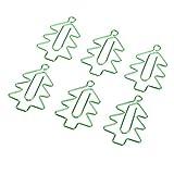 Homyl 6 Stück Weihnachtsbäume Form Metall Büroklammern Briefklammern Aktenklammern Motiv Heftklammern Lesezeichen Kleine Klammern Dekoration