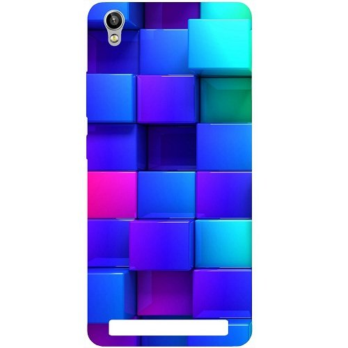 Casotec Blocks Rainbow 3D Graphics Design Hard Back Case Cover for Intex Aqua Power Plus  available at amazon for Rs.149