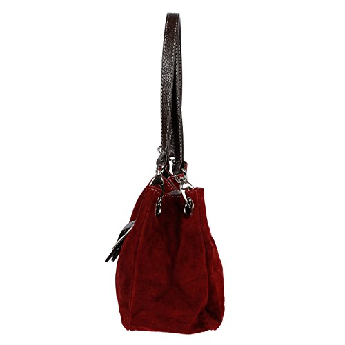 Christian Wippermann®, Borsa a spalla donna Marrone talpa 27x18x12 cm Rot