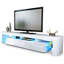 Meuble tv laque blanc avec led - Televiseur blanc pas cher ...