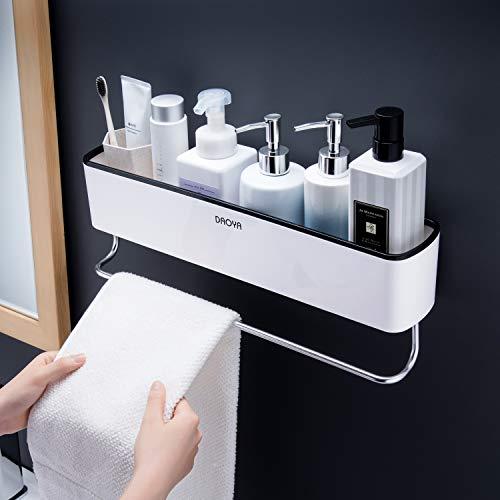 Ruicer Duschkorb Duschablage Selbstklebend Badablage Ohne Bohren Duschregal mit Handtuchhalter für Badezimmer und Küche