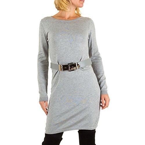 Stretch Kleid Für Damen bei Ital-Design Grau