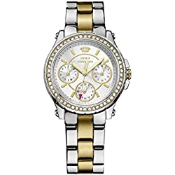 Juicy Couture Pedigree Women's Quartz Watch with Silver Dial Analogue Display and Silver Stainless Steel Bracelet 1901107