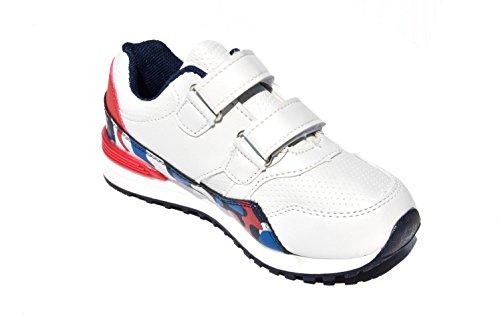 TMY 1869 tendance et de baskets pour enfant taille 18–36: blanc Multicolore - Blanc