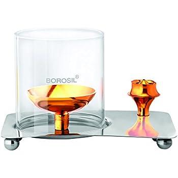 Borosil Glass Aarti Diya (Golden)
