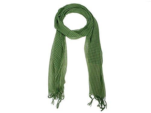scarlet bijoux - Schal/Tuch - grün - Breite ca. 50 cm, Länge 180 cm (Schal Farbige Seide Baumwolle)