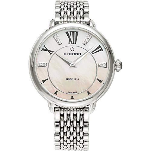 Eterna Women's 34mm Steel Bracelet & Case Quartz Analog Watch 2800-41-76-1743