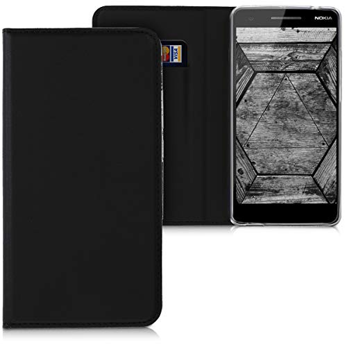 kwmobile Nokia 2.1 (2018) Hülle - Kunstleder Handy Schutzhülle - Flip Cover Case für Nokia 2.1 (2018)
