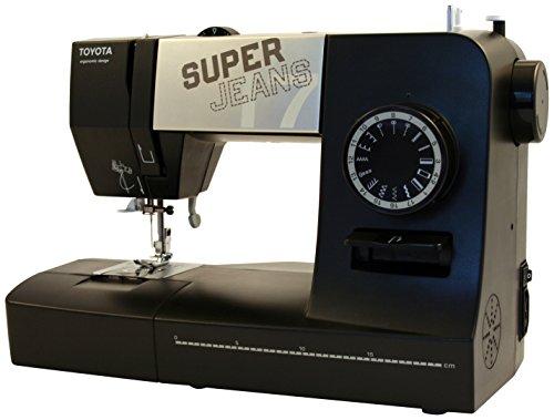 Toyota SuperJ17XL Allround - Máquina de coser (brazo libre, 17 programas y modo para vaqueros)