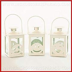 Idea Regalo - Ingrosso e Risparmio Lanterne Bianche assortite con Emoticon Divertenti in Metallo Porta Candele bomboniere Compleanno 18 Anni Originali (Senza confezionamento)