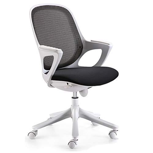 KS-Furniture Bürostuhl MAGLO Schwarz Stoff Schreibtischstuhl Drehstuhl Bürosessel mit Armlehnen