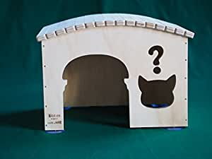 Maisonnette-jeu-niche professionnelle indoor pour chats Why taille XL, Blitzen Made in Italy 100%