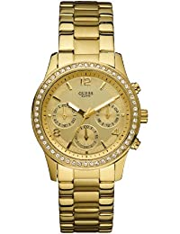 Guess Damen-Armbanduhr Chronograph Quarz Edelstahl W16567L1