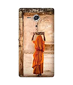 Women In Orange Sony Xperia SP Case