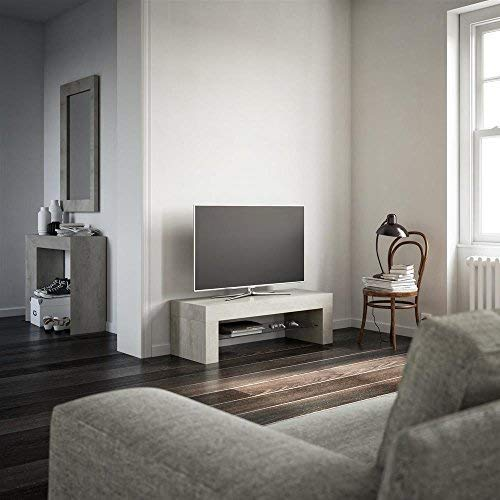 Mobili Fiver, Evo Mobile-TV, Holz, Esche schwarz, 112 x 40 x 36 cm