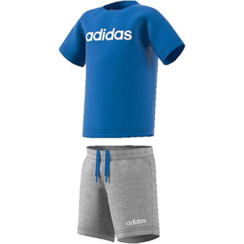adidas Jungen Linear Sommer-Set, True Blue/White, 68 -