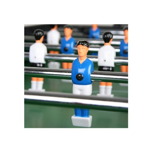 """Tischfussball """"Glasgow"""" Schwarz inkl. Zubehör Set, 2 Getränkehalter, höhenverstellbare Füße, nahtlos hochgezogene Spielfeldecken, Tischkicker, Kicker, Kickertisch -"""