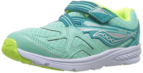 Saucony Girls' Baby Ride 9 Sneaker, Blue, 10 Extra Wide US Toddler -