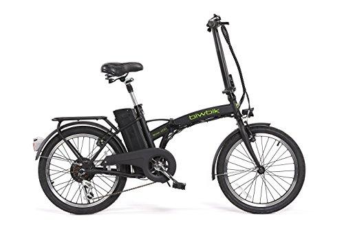 Bici elettrica pieghevole mod. Book 200 batteria agli ioni di litio 36V10AH, nero