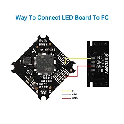 BETAFPV 2pcs LED RGB Light Board 3.3-5.2V Super Bright with 3 Color Race Wire for FPV Racing Drone Beta75X Beta75 pro 2