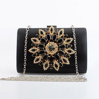 pwne L. In West Woman Fashion Luxus Hochwertige Metallische Künstliche Diamond Abendtasche Black