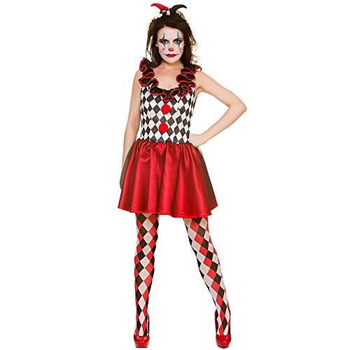 Unbekannt Harlequin Jester Small for Halloween Fancy Dress Costume