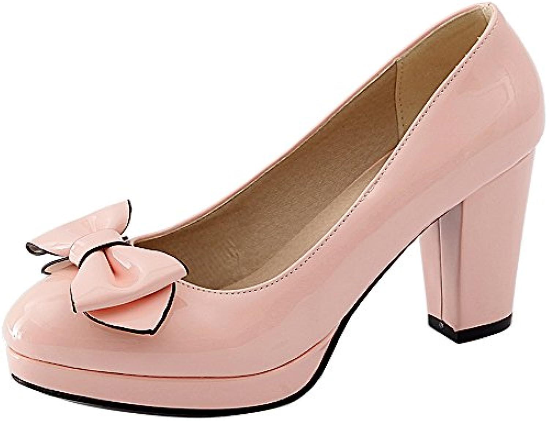 4432a4568373 VulusValas Women Elegant Block Heel Court Court Court Shoes B07FJNFLD9  Parent b22750