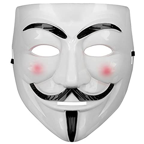 Oramics® VENDETTA Maske Mask Guy Fawkes Anonymous Replika Demo Anti -Karneval Maske Anti Acta Demo (Die 1980er Jahre Kostüme)