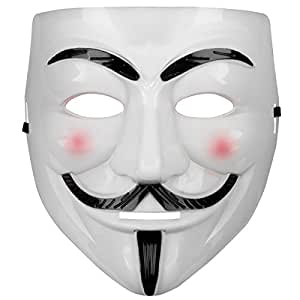 Oramics® VENDETTA Maske Mask Guy Fawkes Anonymous Replika Demo Anti -Karneval Maske Anti Acta Demo