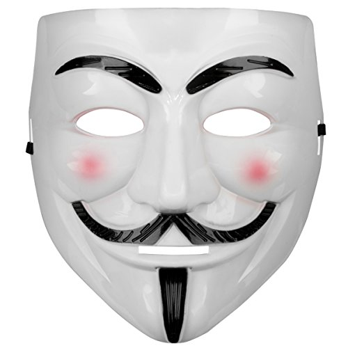 Oramics® VENDETTA Maske Mask Guy Fawkes Anonymous Replika Demo Anti -Karneval Maske Anti Acta Demo (1 ()