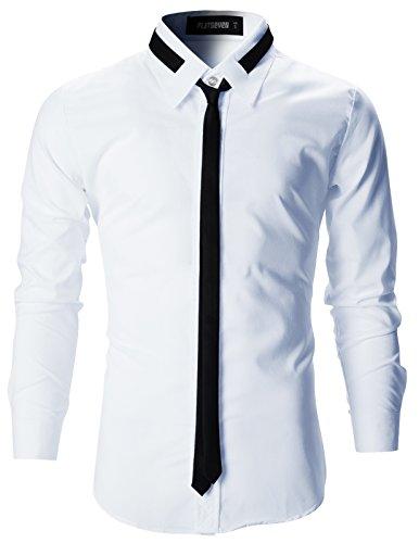 FLATSEVEN Herren Stilvolle Tailored Business Hemden Slim Fit