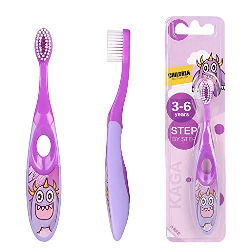 Haorw 1 Stck Baby Zahnbürste Weiche Borste Zahnpflege-Lernset Sicheres Wachstraining (Lila)