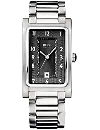 Hugo Boss - 1512214 - Montre Homme Rectangulaire - Quartz Analogique - Bracelet en Acier - Noir