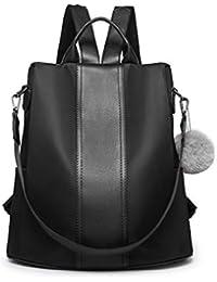 2d2e29e5ac62 Miss Lulu Women Backpack Multi-Function Waterproof Nylon Unisex School Bags  Large Capacity Travel Overnight…