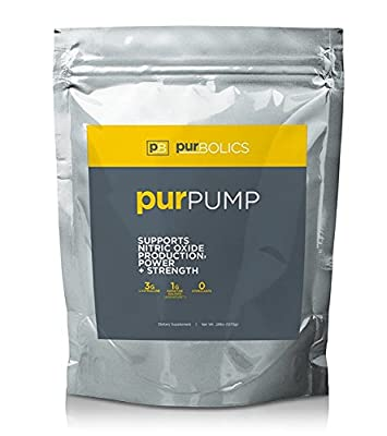Purbolics Pump | Supports Nitric Oxide Production, Power & Strength | 1g of Agmapure, 3g of L-Citrulline, Stimulant-Free Nitric Oxide Stimulator & 30 Servings from Purbolics