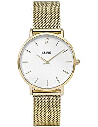 CLUSE Womens Analogue Classic Quartz Connected Wrist Watch with Stainless Steel Strap CLG012