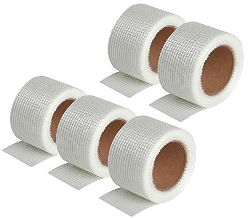 Semin A02652 - Nastro adesivo per realizzare le guarnizioni delle placche di cartongesso in combinazione con un rivestimento, interno, 20 m (Confezione da 5)