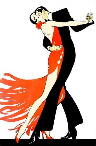 Póster 20 x 30 cm: Vintage Tango - impresión artística de alta calidad, nuevo póster artístico