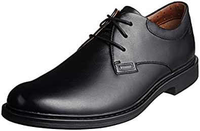 Clarks Men's Drexlar Plain Black Formal Shoes - 8 UK