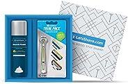 LetsShave Executive Trial Shaving Kit (Trial Pack (Green), Shaving Foam - 200 g)